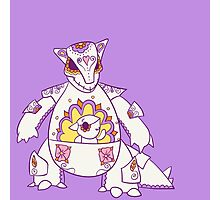 Kangaskhan Popmuerto | Pokemon & Day of The Dead Mashup Photographic Print