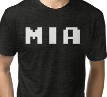 Tecmo Bowl Miami Dolphins Football 8-Bit NES Nintendo Pixel Type Shirt T-shirt Tri-blend T-Shirt