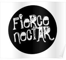 Fierce Nectar Chalk Logo Tee Poster