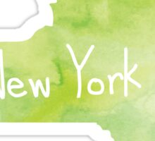 Green Watercolor New York Sticker