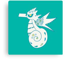 Seadra Popmuerto | Pokemon & Day of The Dead Mashup Canvas Print
