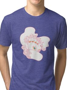 Goldeen Popmuerto | Pokemon & Day of The Dead Mashup Tri-blend T-Shirt