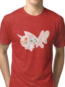 Seaking Popmuerto | Pokemon & Day of The Dead Mashup Tri-blend T-Shirt