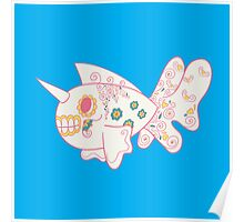 Seaking Popmuerto | Pokemon & Day of The Dead Mashup Poster