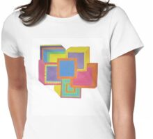 Spacey Flower Power Womens Fitted T-Shirt