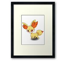 Fennekin Pokemon Framed Print