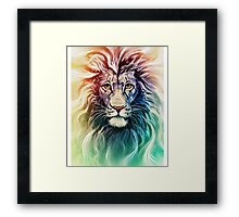 lion rainbow phone case Framed Print