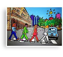 Beatles in Sardinia New With White Border Canvas Print