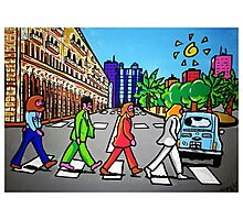 Beatles in Sardinia New With White Border Photographic Print