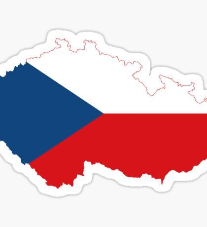 Czech Republic Flag Map Sticker