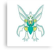 Scyther Popmuerto | Pokemon & Day of The Dead Mashup Canvas Print
