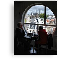 Lunch at Metz & Co Canvas Print