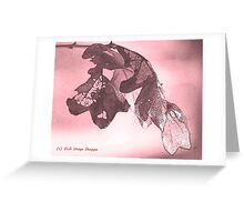 Oak Sumi-e Greeting Card