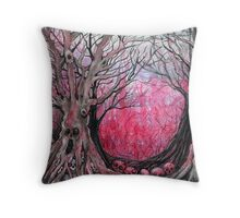 blood trees  Throw Pillow