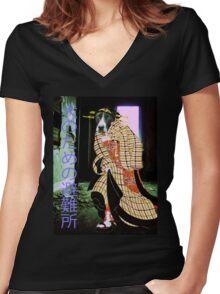 Geisha Bitch  Women's Fitted V-Neck T-Shirt