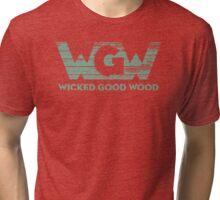 Wicked Good Wood, LLC Logo Tri-blend T-Shirt