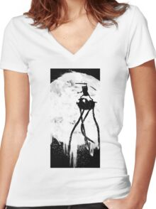 Midnight Adventure Women's Fitted V-Neck T-Shirt