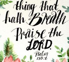 A floral wreath around a scripture Sticker