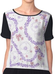 Butterfly and Poppy Rhapsody Chiffon Top