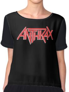 Anthrax Classic Logo Chiffon Top