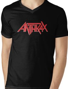 Anthrax Classic Logo Mens V-Neck T-Shirt