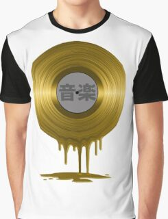 Melting Gold Record Graphic T-Shirt