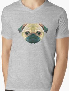 Pug Art Mens V-Neck T-Shirt