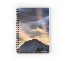 Sunset in the Mountains Spiral Notebook
