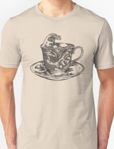 classic cup of coffee and the oriental wave Unisex T-Shirt