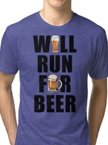 Workout Will Run for Beer Tri-blend T-Shirt