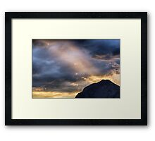 Sunset at the Austrian Alps Framed Print