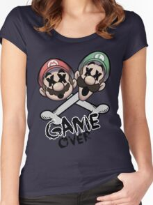 Mario and Luigi Game Over Women's Fitted Scoop T-Shirt