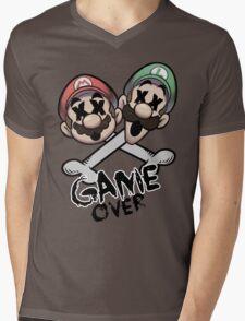 Mario and Luigi Game Over Mens V-Neck T-Shirt