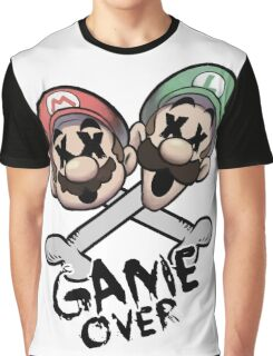 Mario and Luigi Game Over Graphic T-Shirt