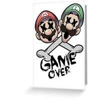 Mario and Luigi Game Over Greeting Card