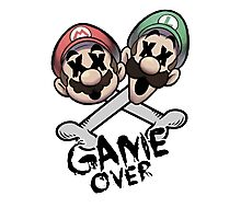 Mario and Luigi Game Over Photographic Print