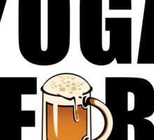 Workout Will Yoga for Beer Fitness Sticker