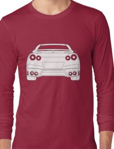 Rear Tail Light Tee / Sticker for R35 Nissan GTR enthusiasts - White Long Sleeve T-Shirt