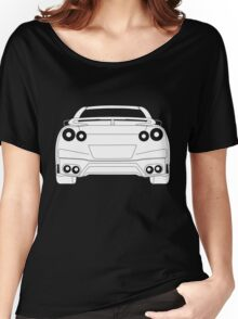 Rear Tail Light Tee / Sticker for R35 Nissan GTR enthusiasts - White Women's Relaxed Fit T-Shirt