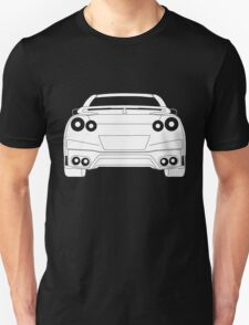 Rear Tail Light Tee / Sticker for R35 Nissan GTR enthusiasts - White Unisex T-Shirt