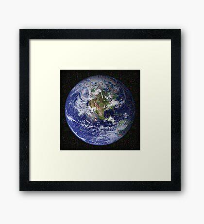 Deep Dream Earth Americas Framed Print