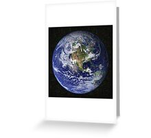 Deep Dream Earth Americas Greeting Card