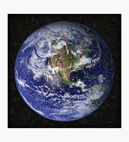 Deep Dream Earth Americas Photographic Print