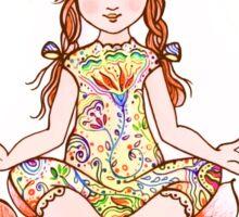namaste yoga girl card Sticker