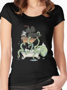 Kraken in the Tub Women's Fitted Scoop T-Shirt