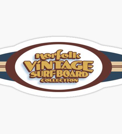 Norfolk Vintage Surfboard Collection logo. Sticker