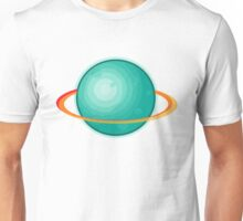 Green Gas Planet with Ring Unisex T-Shirt