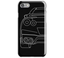 Nissan R35 GTR Rear Wireframe Design | Tee Shirt & Apparel - White iPhone Case/Skin