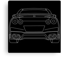 Nissan R35 GTR Rear Wireframe Design | Tee Shirt & Apparel - White Canvas Print