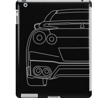 Nissan R35 GTR Rear Wireframe Design | Tee Shirt & Apparel - White iPad Case/Skin